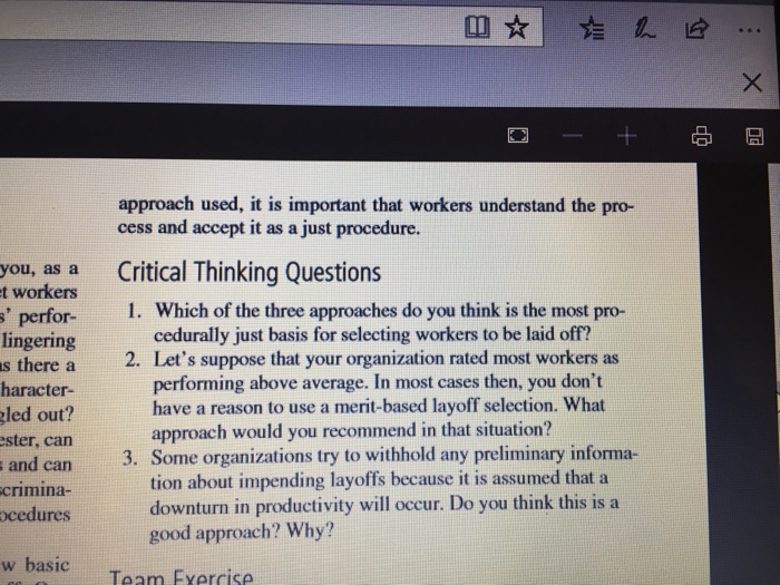 Solved: Why Me? Procedural Justice In The Layoff Process T