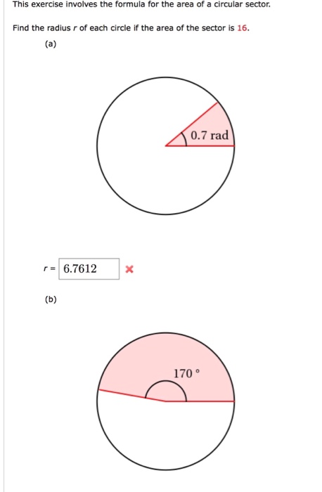 Solved: This Exercise Involves The Formula For The Area Of... | Chegg.com