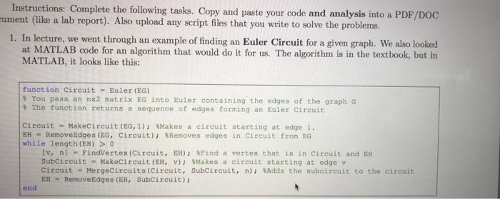 Solved: For Discrete Math Need Solution In Matlab Code 1st