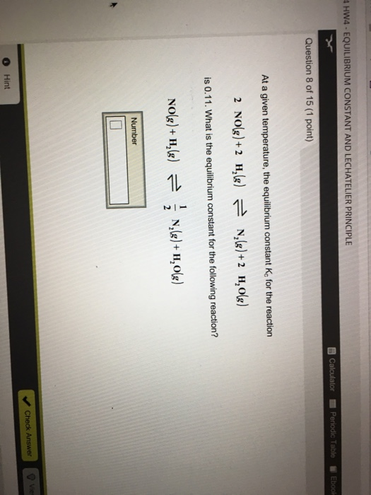 Chemistry archive february 15 2017 chegg hw4 equilibrium constant and lechatelier principle b calculator periodic table ebook question 8 of 15 fandeluxe Images
