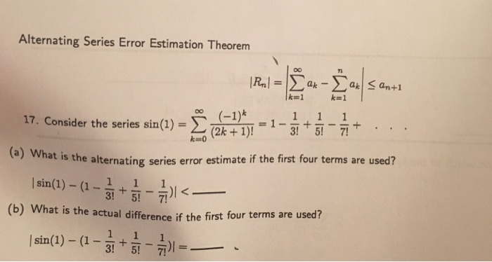 estimation theorem