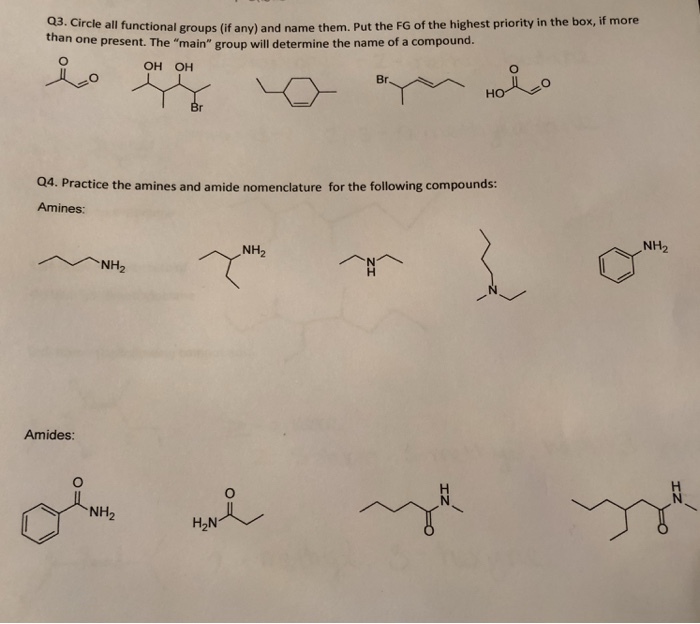 Solved: Q3  Gircle All Functional Groups (if Any) And Name