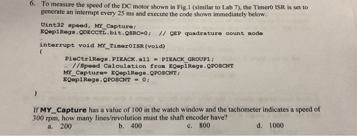 6  To Measure The Speed Of The DC Motor Shown In F