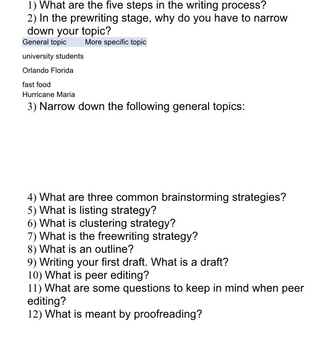 1 What Are The Five Steps In Writing Process 2