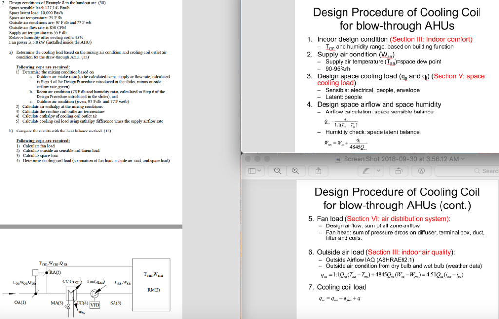2  Design Conditions Of Example In The Handout Ase