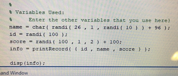 Solved: This Is A Matlab Problem I Can't Figure Out Any He