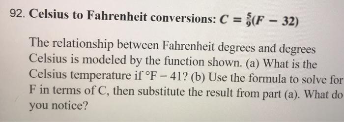 92 Celsius To Fahrenheit Conversions C F 32 5 The