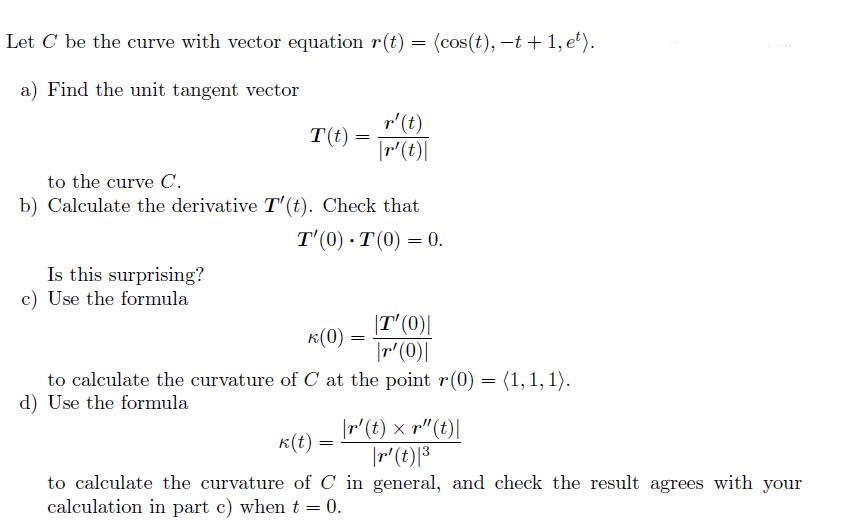 Unit Tangent Vector Calculator