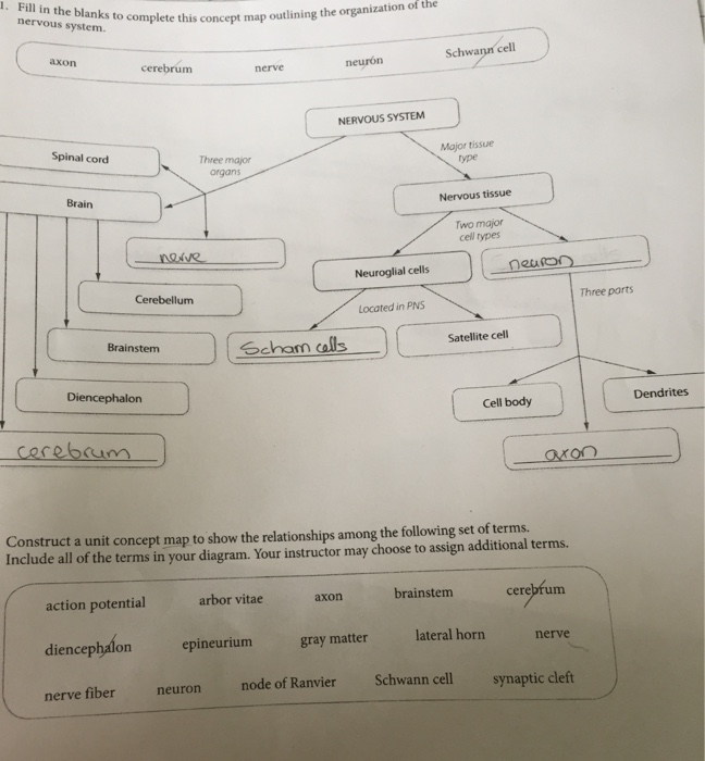 Solved: 1. Fill In The Blanks To Complete This Concept Map ...