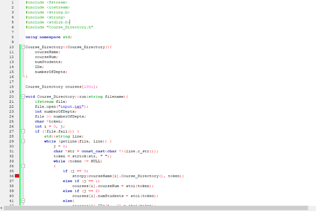 Solved: I Am Nearly Done With A Program I Started For Clas