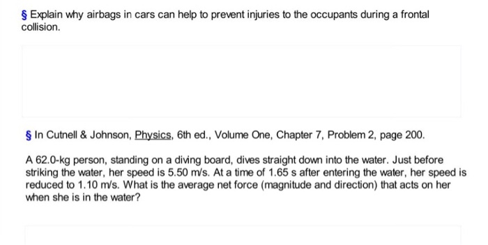airbags physics