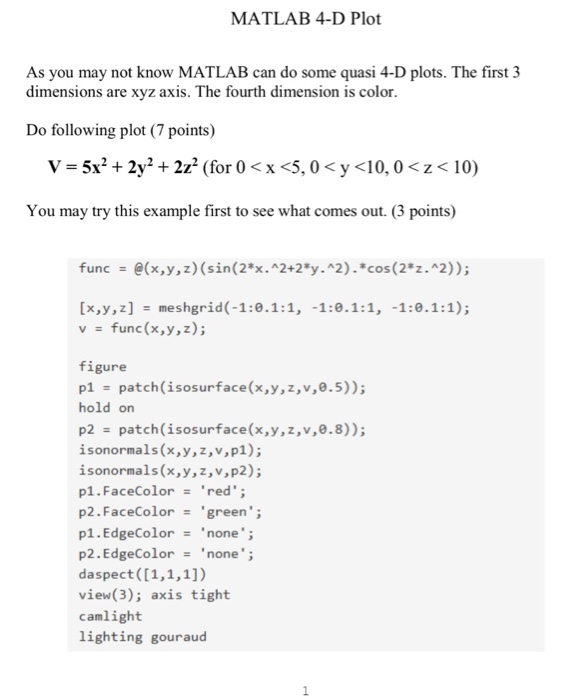 Solved: Would Anyone Be Able To Help With The Matlab Code