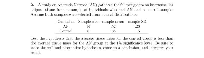 a review of studies on anorexia nervosa Literature review despite the huge impact of severe and enduring eating disorders (seeds) on indi - viduals' lives, there is little evidence to guide care and treatment an extensive lit-erature review by kaplan (2002) identified fewer than 20 controlled clinical trials into the effectiveness of using psychotherapy to treat anorexia nervosa.