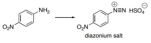 NH2 O2N O2N diazonium salt