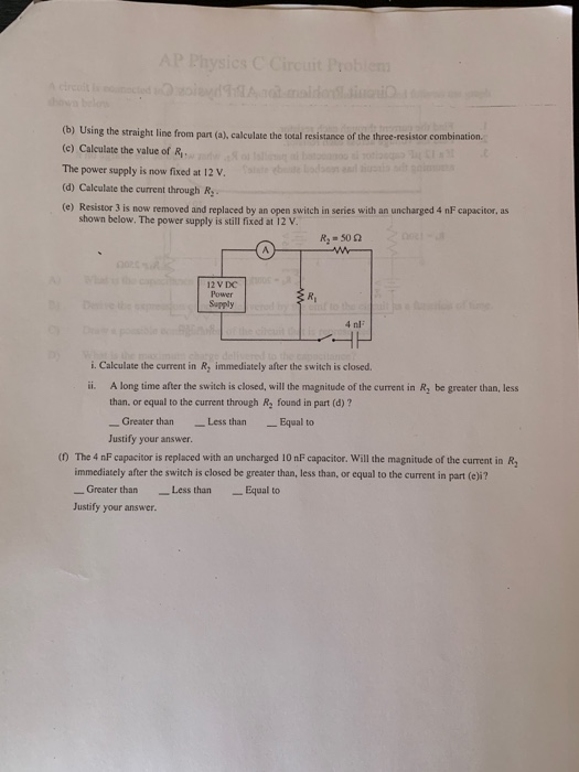 Solved: DC Power Supply R 50 2 Physics Students Are Analyz