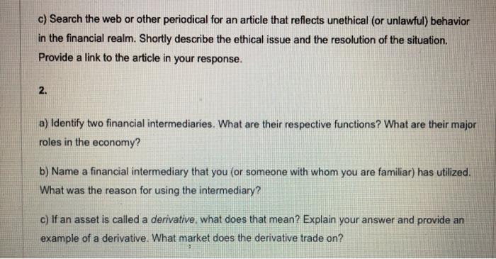functions of financial intermediaries