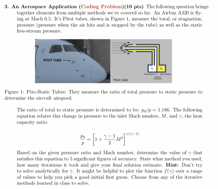 Solved: 3  An Aerospace Application (Coding Problem) (10 P