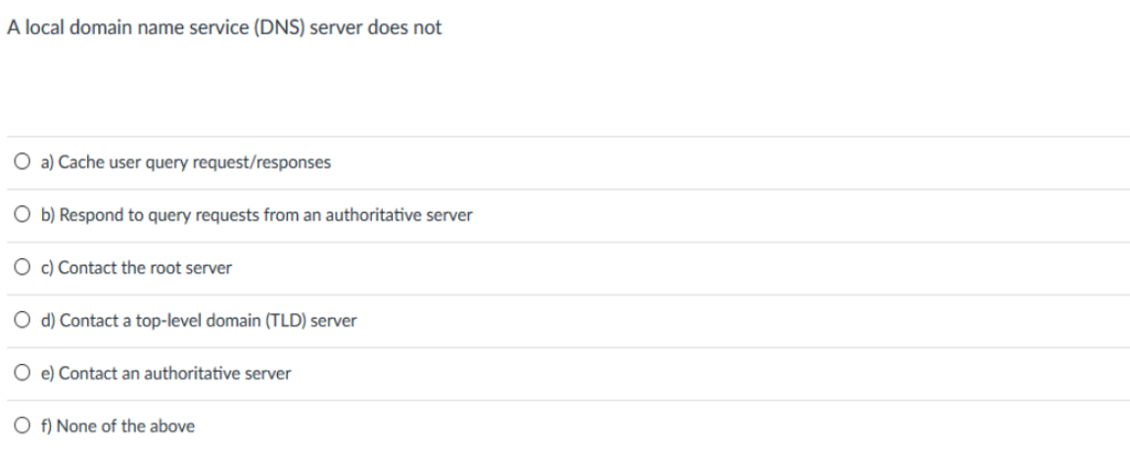 Solved: A Local Domain Name Service (DNS) Server Does Not