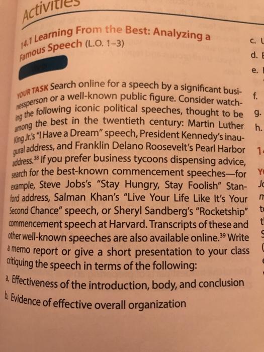 how to analyze a political speech