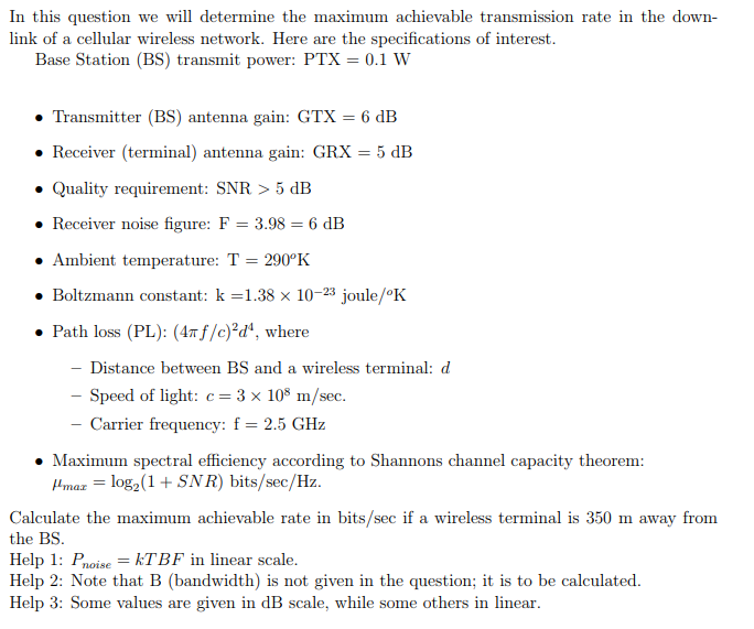 In This Question We Will Determine The Maximum Ach
