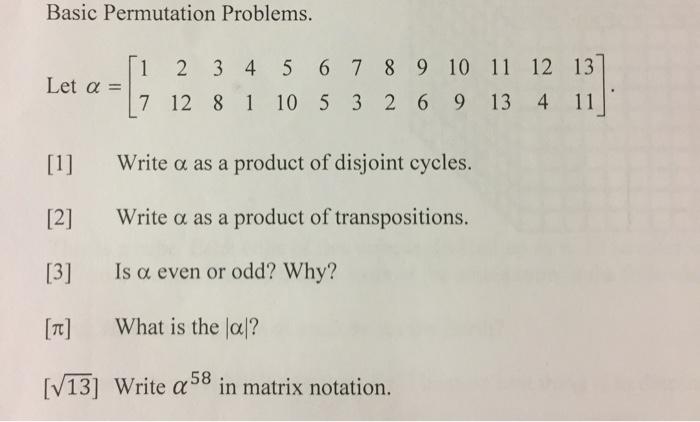Solved: Basic Permutation Problems  1 2 3 4 5 6 7 89 10 11