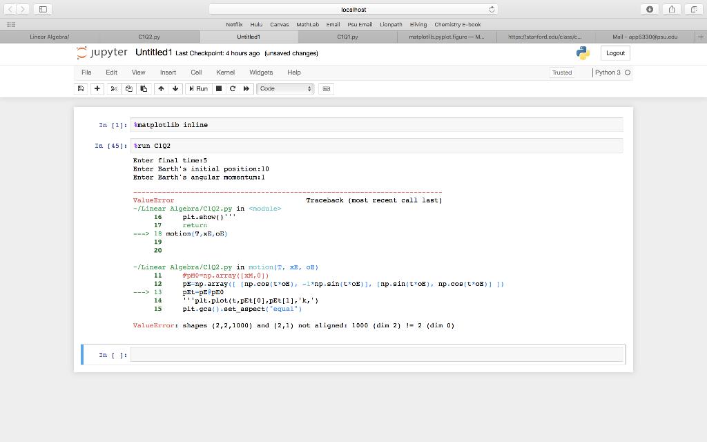 Python Programming Problem Using MATPLOT Library I    | Chegg com