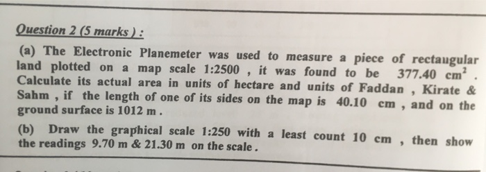 Solved: Question 2 (5 Marks): (a) The Electronic Planemete