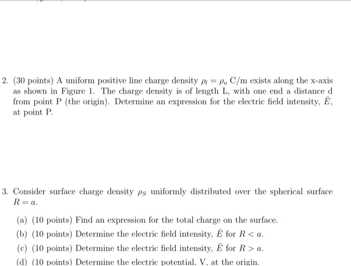 Electrical engineering archive june 13 2017 chegg 2 30 points a uniform positive line charge density pl po c fandeluxe Image collections