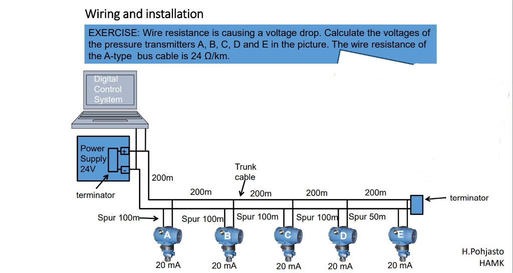 solved wiring and installation exercise wire resistance
