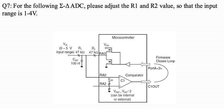 Solved: Q7: For The Following Σ-AADC, Please Adjust The R1