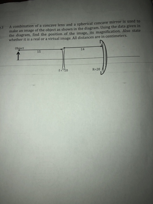 Solved 3 A Combination Of A Concave Lens And A Spherical
