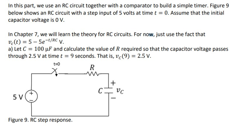 solved in this part, we use an rc circuit together with a