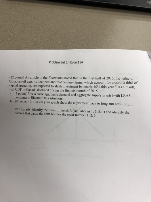 Solved: Problem Set 2  Econ 114 (12 Points) An Article In