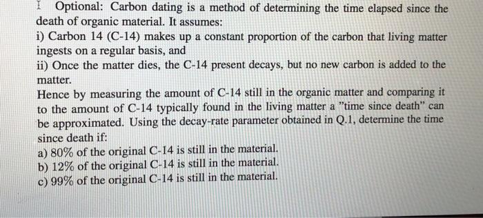 organic matter datingiso standard dating