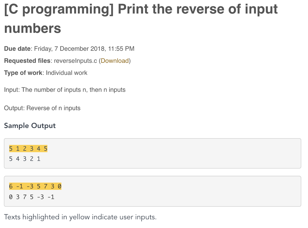 Reverse Due Date >> Solved C Programming Print The Reverse Of Input Numbers
