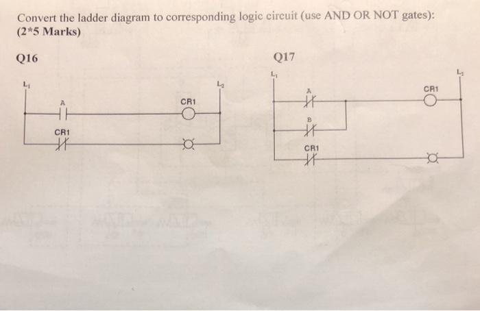 Solved Convert The Ladder Diagram To Corresponding Logic Chegg Com