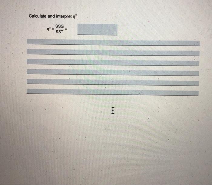 Calculate and interpret r SSG
