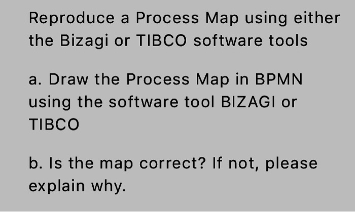 Reproduce A Process Map Using Either The Bizagi Or Cheggcom - How to draw a process map