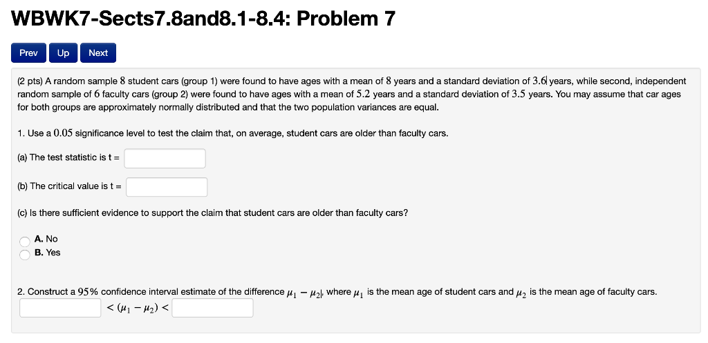 Solved: WBWK7-Sects7 8and8 1-8 4: Problem 7 Prev Up Next
