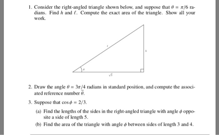 Solved: I  Consider The Right-angled Triangle Shown Below