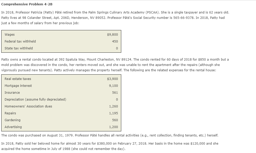 I Am Stuck On The Form 8582--- I Have The Form 104    | Chegg com