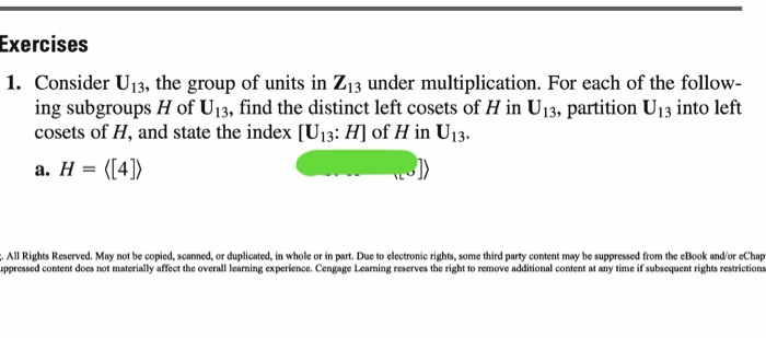 Advanced math archive march 20 2017 chegg exercises 1 consider u13 the group of units in z13 under multiplication for fandeluxe Image collections