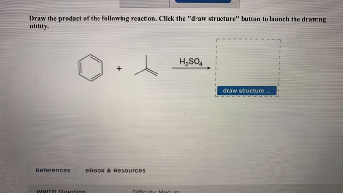 Chemistry archive march 31 2017 chegg draw the product of the following reaction click the draw structure button to launch the fandeluxe Images