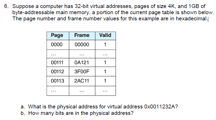 Solved: 6  Suppose A Computer Has 32-bit Virtual Addresses