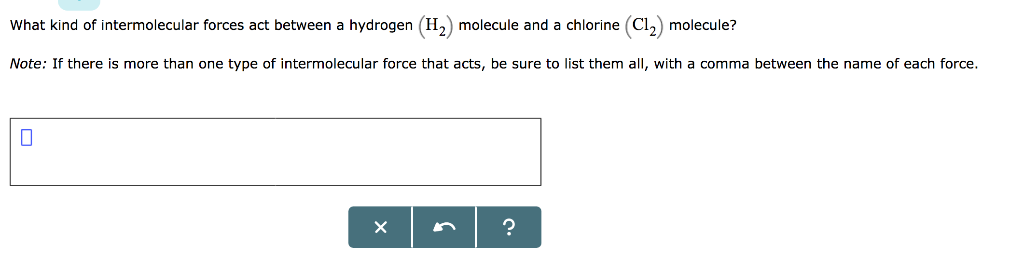 H2 Intermolecular Forces