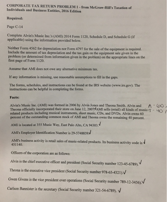 Accounting archive april 06 2017 chegg corporatetax return problem 1 from mcgraw hills taxation of individuals and business entities fandeluxe Image collections