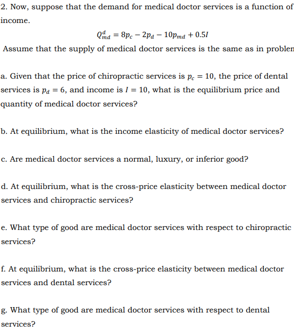 Solved: 1  The Following Demand And Supply Functions Repre