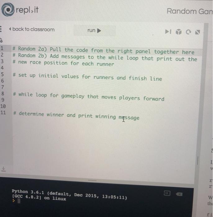 Solved: Repl,it Random Gan Back To Classroom Run | # Rando