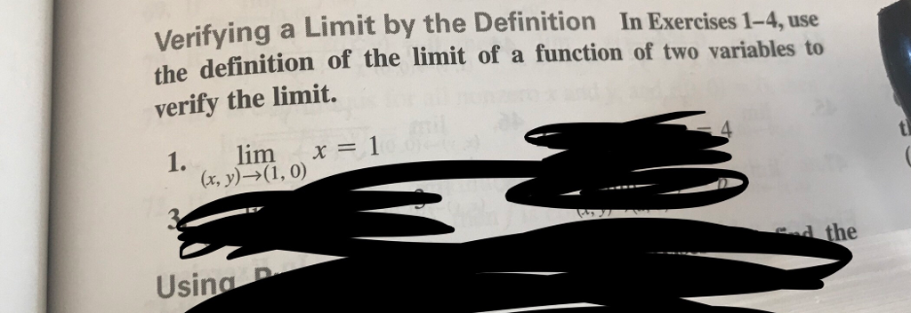 Solved: Verifying A Limit The Definition Of The Limit Of A