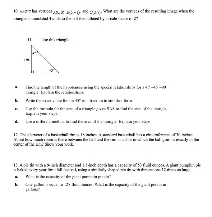 Solved: 10. AABC Has Vertices A(0, O), B(5,-1) And C What